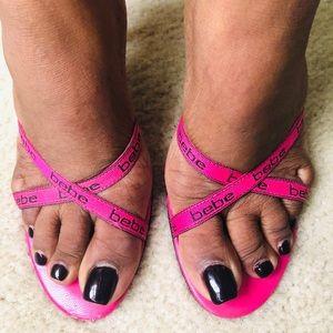 BeBe Hot Pink Heels
